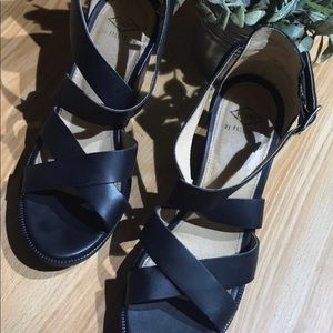 Anthropologie Black PLDM Leather shoes